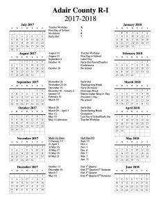 Novinger School Event Calendar,